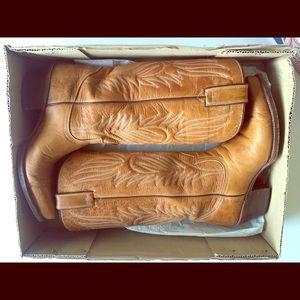 Vintage Steve Madden Lone Star Leather Boot Sz 8